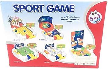 board game Juego de Mesa Deportivo 5 en 1, Edades 3+: Amazon.es: Juguetes y juegos