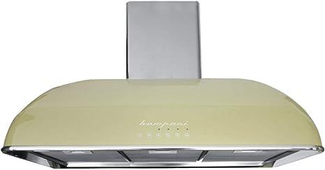 Bompani RETRÒ De pared Crema de color 850m³/h - Campana (850 m³/h, Canalizado, 58 dB, De pared, Crema de color, LED): Amazon.es: Hogar
