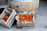 LAMINATED POSTER Orange Tomato On Brown Wooden Crate Food Poster Print 24 x 36