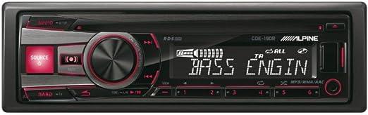 Alpine CDE-190R - Radio para coches (200 W, pantalla LCD, USB, FM/LW/MW, 3 salidas de preamplificación), negro: Amazon.es: Electrónica
