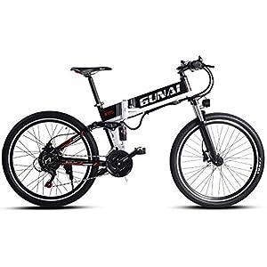 51%2BZd kzoOL. SS300 GUNAI 26 Pollici Pieghevole Bicicletta Elettrica 21 Sistema di Trasmissione velocità Bici da Montagna Ebike con Batteria…