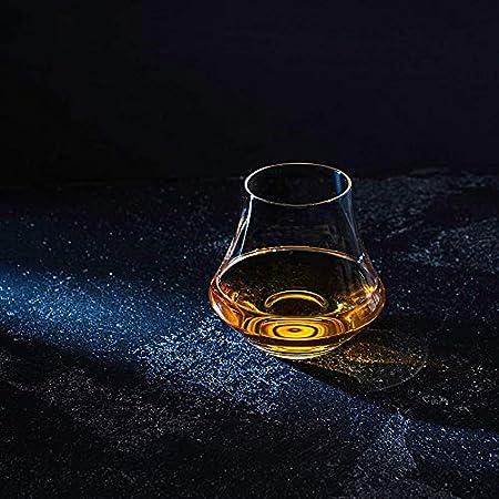 Piedras de Whisky & Vaso de Cata en Set de Regalo – 6 Piedras Naturales de Granito – Vaso de Whisky, Scotch y Bourbon para Cata – Bandeja de Madera - Caja de Regalo con Lámina de Oro de R.O.C.K.S