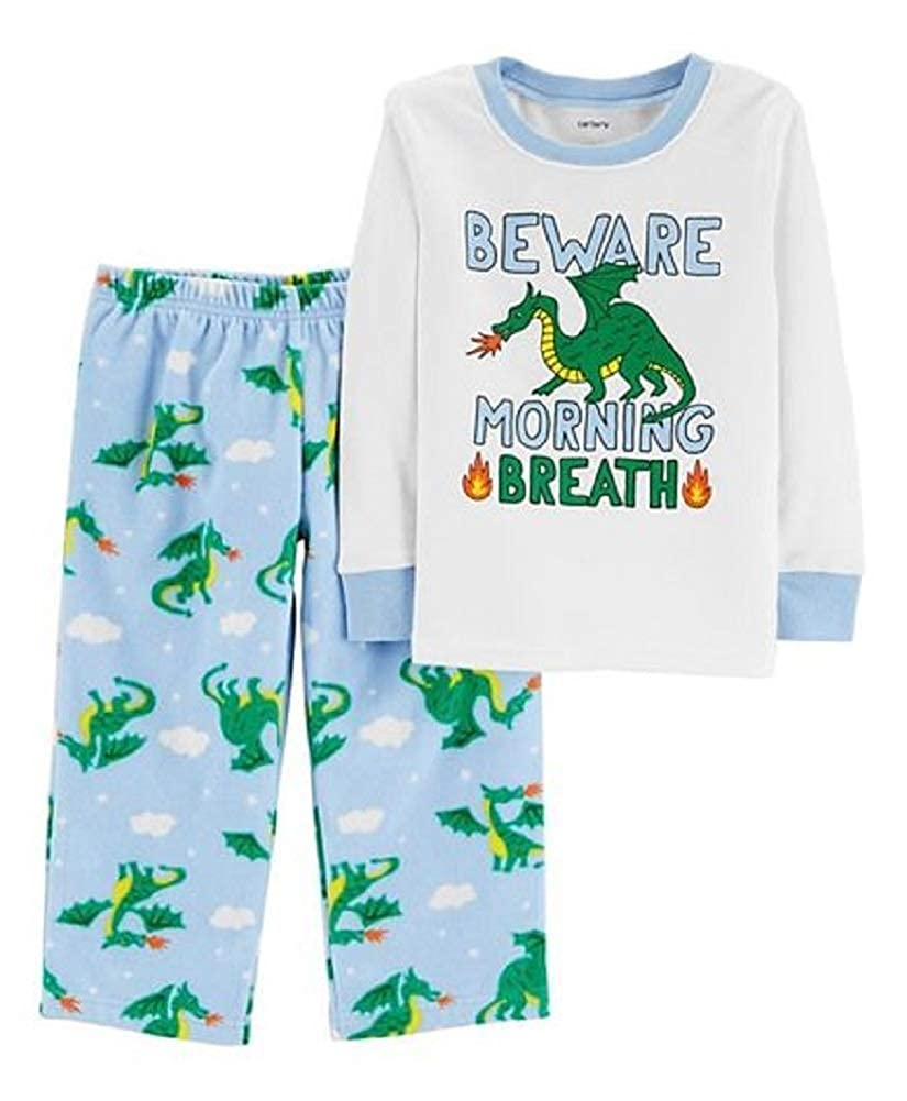 Carters Baby Boys Beware of Morning Breath Pajama Set 18 Months Light Blue