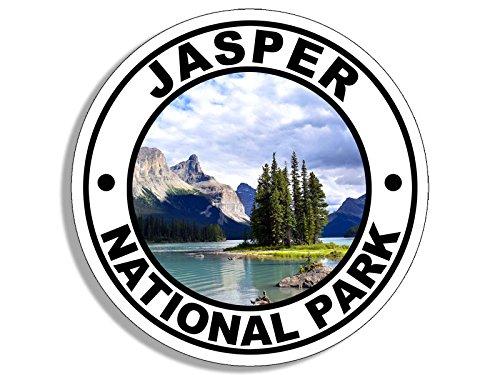 American Vinyl Round JASPER National Park Sticker (travel rv hike alberta canada) - Jasper Round