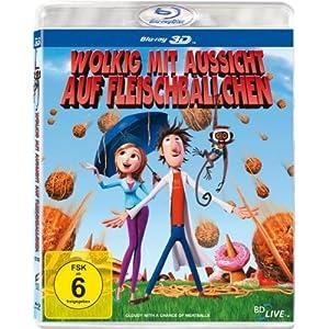51%2BZdf6GXYL. SL500 AA300  [Amazon] Wolkig mit Aussicht auf Fleischbällchen [3D Blu ray] für nur 9,99€ inkl. Versand