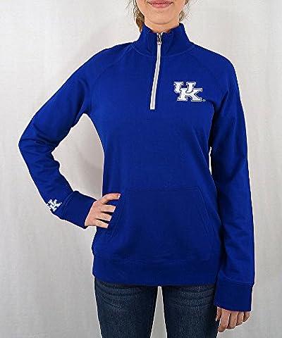 Kentucky Wildcats Women's Quarter Zip Blue - XL - Cat Womens Zip Hoodie