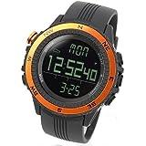 LAD WEATHER lad004or-eu - Reloj de pulsera para hombres, correa de poliuretano, color naranja