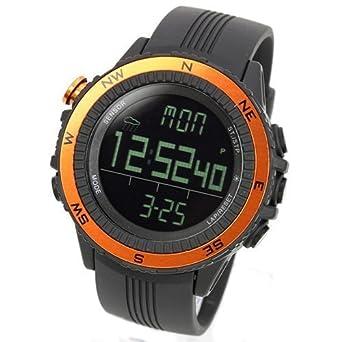 LAD WEATHER lad004or-eu - Reloj de pulsera para hombres, correa de poliuretano, color naranja: Amazon.es: Relojes