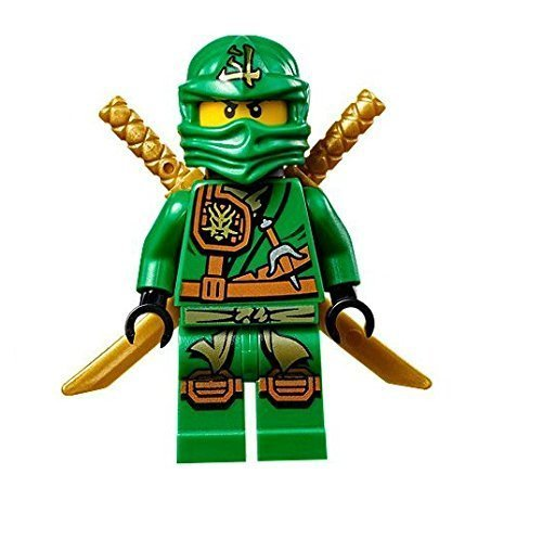 LEGO Ninjago Minifigure - Lloyd Zukin Robe Jungle Green Ninja with Dual Gold Swords (70749) (Lego Ninjago Lloyd Zx)
