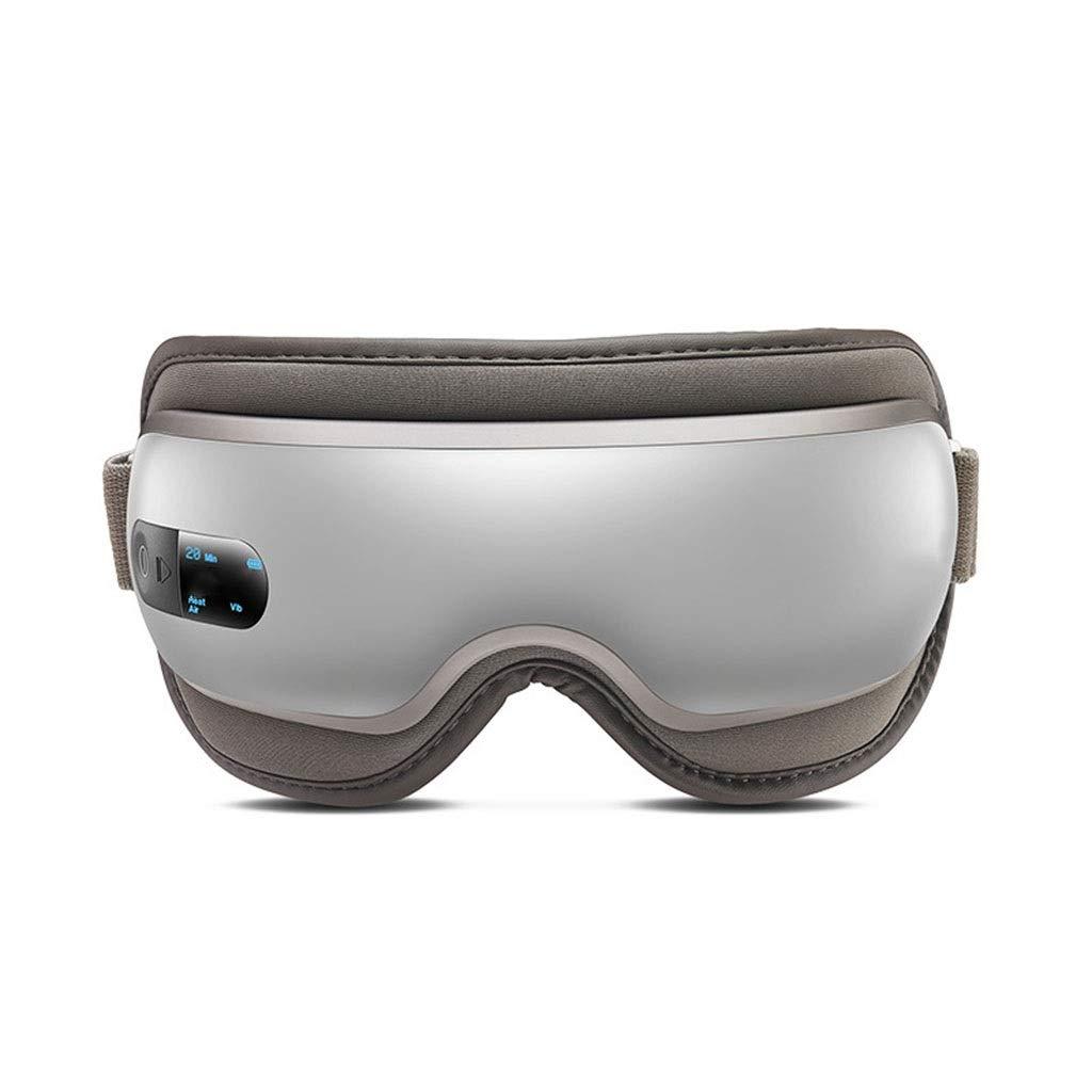 アイマッサージャーコードレス電動アイマッサージャー熱振動空気圧縮音楽頭痛を和らげるストレス目リラクゼーション旅行オフィスファミリーカー B07SDLRPLN