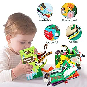 beiens Soft Baby Cloth Books