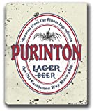 "PURINTON Lager Beer Stretched Canvas Sign 16"" x 20"""