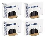 NZTFK 517 Super Heavy Grade Can Liners, 40 x 46, 40-45gal, Black, 10 Bags Per Roll, 4 Cases of 10 Rolls