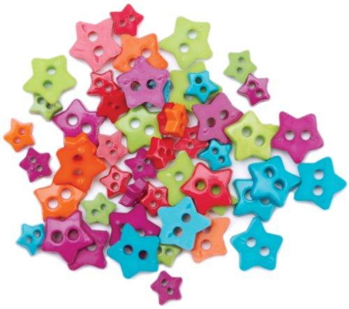 Blumenthal Lansing Favorite Findings Mini Shaped Buttons, Fun Stars 49/Pkg