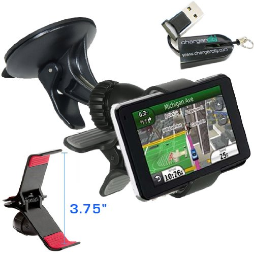 ChargerCity Exclusive GPS Vehicle Suction Mount Kit for Garm