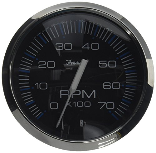 (Faria 33718 Chesapeake Black 7000 rpm Tachometer)