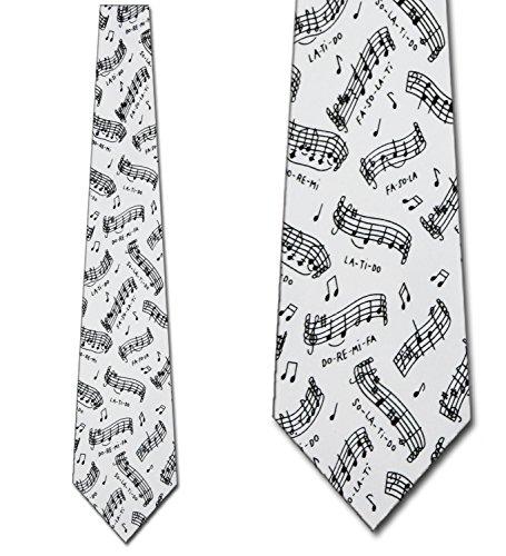 Do Re Mi Tie Musical Notes Ties Mens Neckties by Ralph Marlin