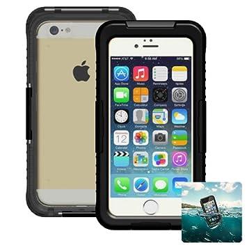 Donkeyphone S11X7PC1200 - Carcasa acuática para iPhone 7 Plus / 8 Plus y Funda Sumergible Waterproof, Color Negro