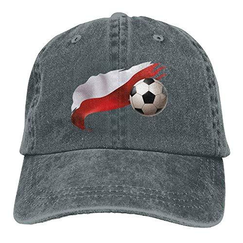 hanbaozhou Gorras béisbol Poland Flag Ftball Denim Hat Adjustable Male Classic Baseball Caps