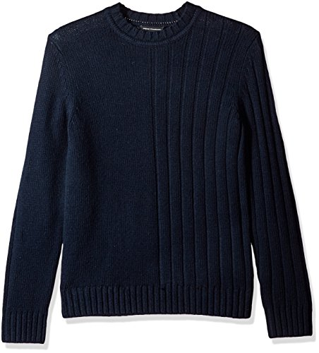 French Connection Men's Cotton Wool Mixed Stitch Plain, Marine Blue, L by French Connection