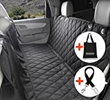 Dog Seat Cover For Cars with Seatbelt Leash and Storage Bag - Waterproof Nonslip Backing With Seat Anchors, 148cm width X 138cm length. - Hammock Style, Luxury Pet Car Seat Protector - Universal Fit