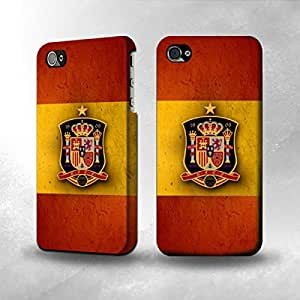 Apple iPhone 4 / 4S Case - The Best 3D Full Wrap iPhone Case - Worldcup 2014 Spain