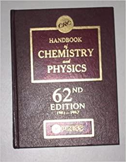 Book CRC Handbook of Chemistry and Physics 62nd Edition 1981-1982