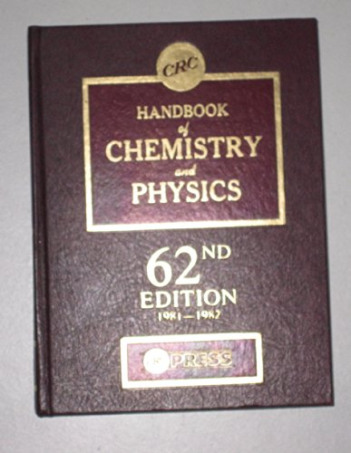 CRC Handbook of Chemistry and Physics 62nd Edition 1981-1982