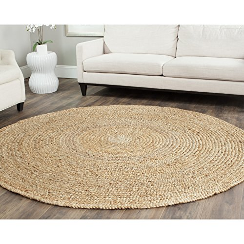 Safavieh Natural Fiber Collection NF733A Hand Woven Natural Jute Round Area Rug (9' ()