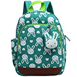 Uniui Cute Bunny Kids Safety Harness Nylon Backpack - Toddlers Travel Rucksack Anti Lost Nursery Backpack for Baby Girls and Boys (Green)