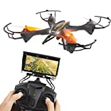 SereneLife Predator WiFi FPV Drone, 4 Channel 2.4G 6-Gyro Quadcopter with HD Camera and Live Video, Gravity Induction RC Drone with Headless Mode Function and Low Voltage Alarm, VR Headset-Compatible