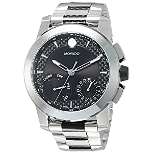 Movado Men's Swiss Quartz Stainless Steel Casual Watch, Color:Silver-Toned (Model: 0607030)