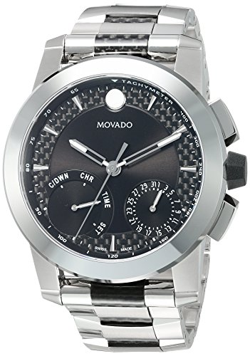 - Movado Men's Swiss-Quartz Watch with Stainless-Steel Strap, Silver, 26 (Model: 0607030