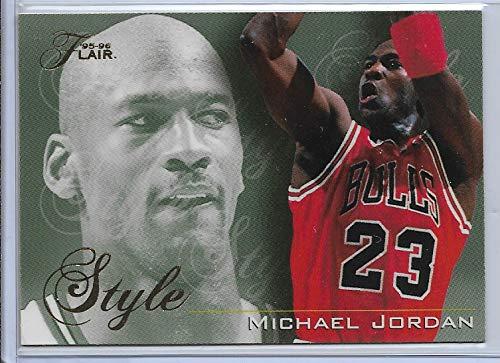(1995-96 Fleer Flair Basketball Michael Jordan Style Card # 235 )