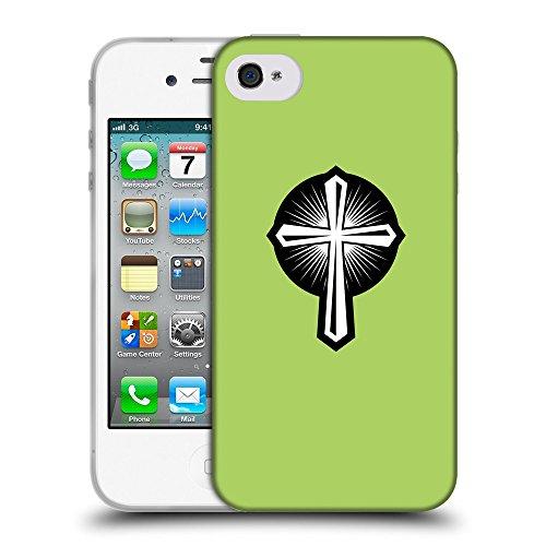 GoGoMobile Coque de Protection TPU Silicone Case pour // Q07930628 Christian Cross 18 poule // Apple iPhone 4 4S 4G