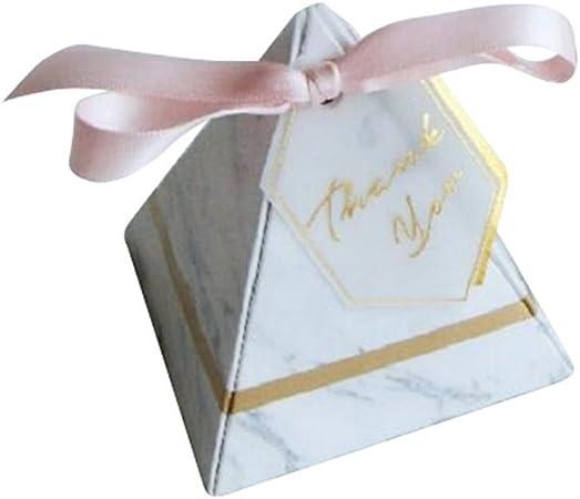 100 X Boda Caja de Caramelos Thank You Etiquetas Mármol Patrón Forma de Pirámide Diseño Fiesta Cumpleaños Detalle Cajas de Dulces Niños Cumpleaños Cajas Artículos para Fiestas: Amazon.es: Hogar