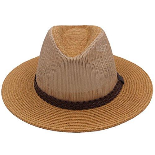MAZHONG Chapeaux Chapeau de plein air Hommes Printemps Eté Loisirs Visière respirante Voyage d'été Sun Hat Topper ( Couleur : A , taille : M (57-58cm) )