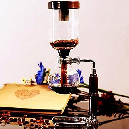YaeKoo sifón de Mesa con 5 Tazas sifón de Mesa (sifón) Cafetera: Amazon.es: Hogar
