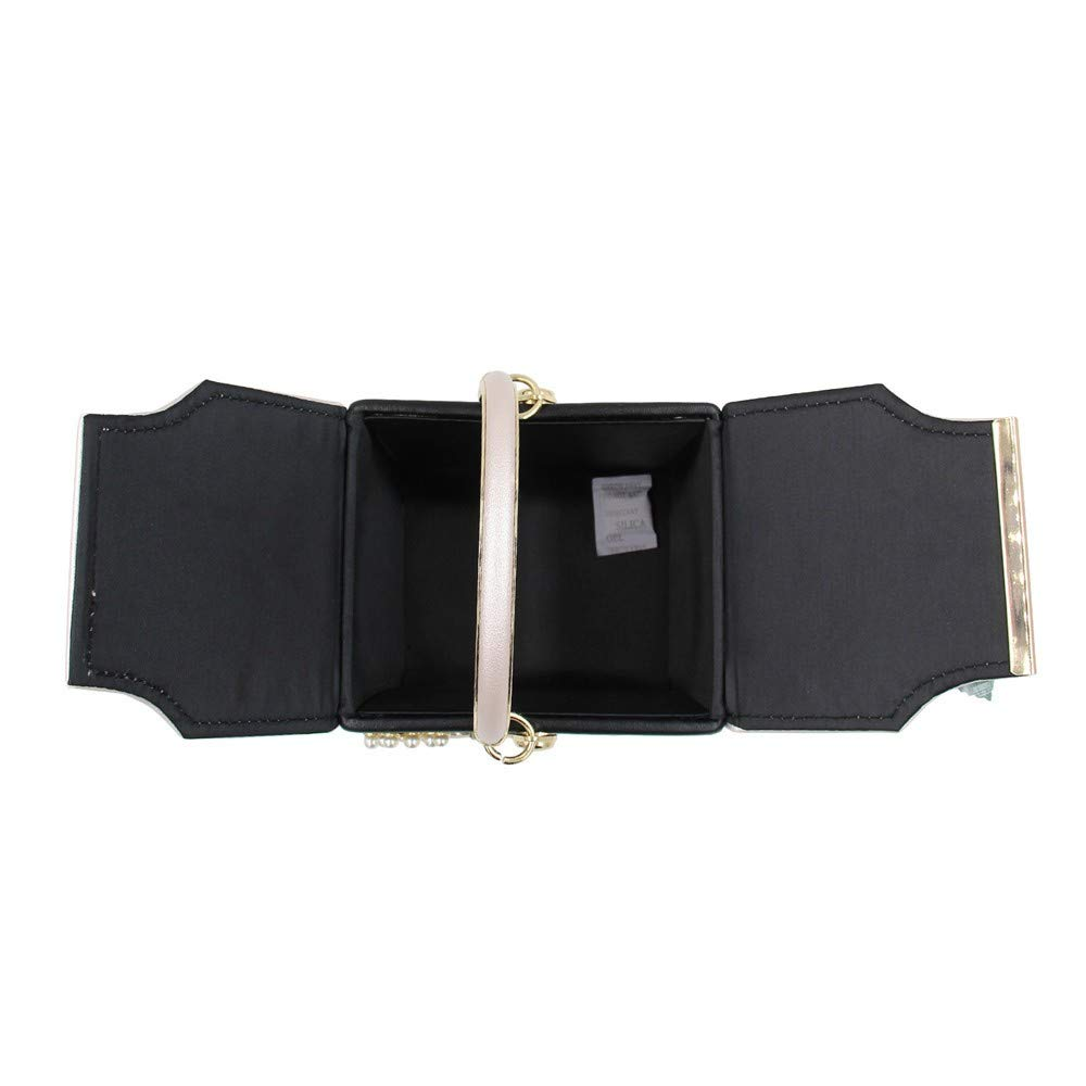 WXMDDN Womens Clutch//Dinner Bag//Flower Small Square Bag//Suitable for Party,Dance,Bride Wedding,Party,171613cm,Black