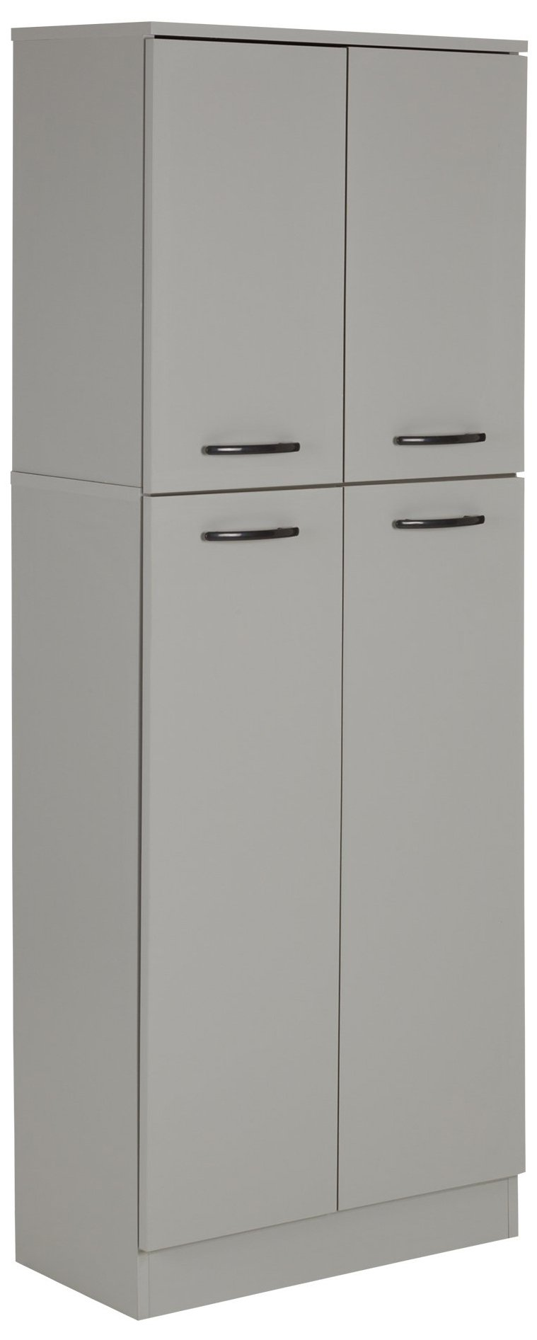 South Shore 4-Door Storage Pantry with Adjustable Shelves, Soft Gray