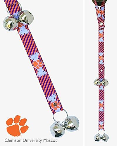 In Dog We Trust Premium Officially Licensed Collegiate Edition Housetraining Dog Doorbells - Clemson University