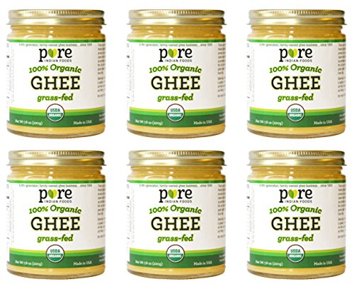 Grassfed Organic Ghee 7.8 Ounce (Pack of 6) - Pure Indian Foods Brand  by Pure Indian Foods (Image #1)