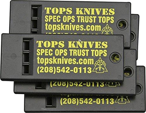 Plastic Heavy Duty Survival Knife - Tops Knives Survival Whistle