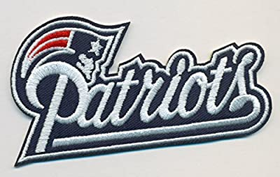 New England Patriots Football NFL Embroidered Iron On Patches Hat Jersey 3 1/2 ""