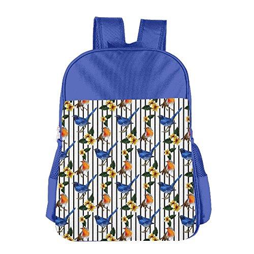 Kids School Backpacks Tropical Exotic Bird Pattern Shoulders Bags Schoolbag For Teens Boys Girls ()