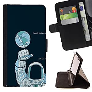 Momo Phone Case / Flip Funda de Cuero Case Cover - Astronauta Espacio;;;;;;;; - LG G4 Stylus H540