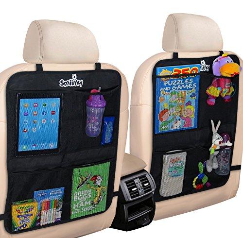 [해외]킥 매트 2 개, 초대형 주최자 포켓 2 개 - 디럭스 뒷좌석 수호자, 자동차, SUV, 미니 밴 또는 트럭 용 시트 커버 - 차량 뒷좌석 어린이 보호대/Kick Mats plus 2 Extra Large Organizer Pockets - Deluxe Backseat Protector As Seat Covers For Car...