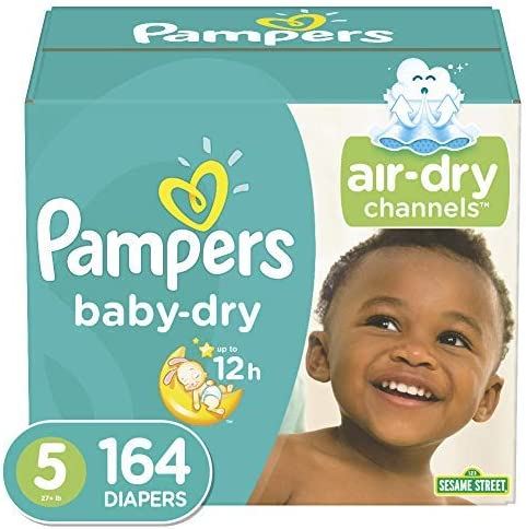 Pampers Pure Disposable Baby Diapers Size 4 Hypoallergenic and Frag... 3 Count