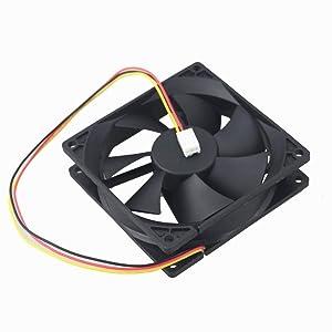 GDSTIME 9cm 90mm Case Fan, 90mm x 25mm Brushless DC 12V 3PIN PC Computer Case CPU Cooler Fan