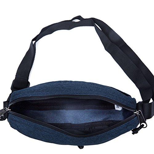 Eastpak  Bolso bandolera, 3 L, Azul Azul